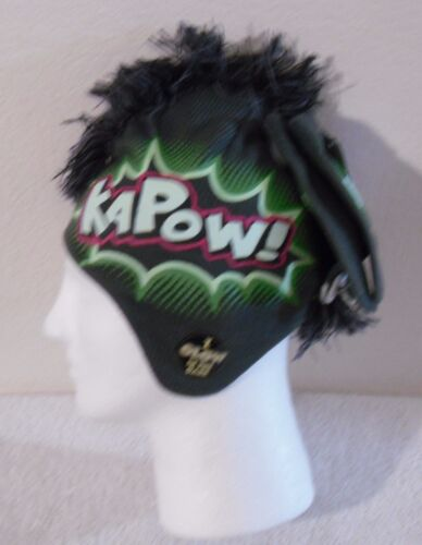 NWT Kapow Boys Winter Mohawk Hat /& Gloves Set One Size Green MSRP$20