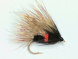 12 Coch y Bonddu  Trout Fly Fishing Trout /& Grayling Flies FREE Postage Fly Sale