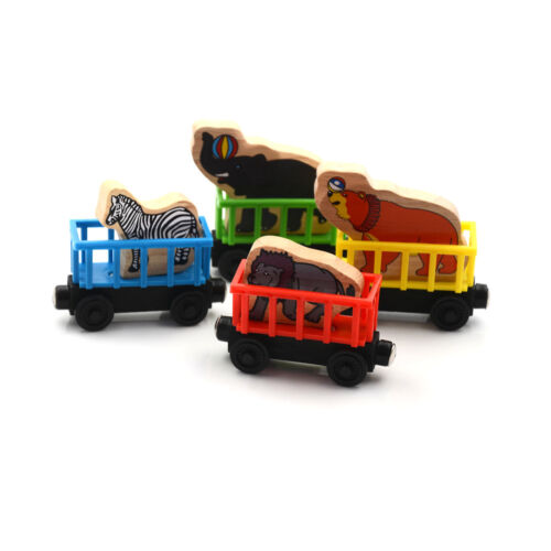 Baby Animals Wooden Trains Model Toy Magnetic Train Kids Education Toys Gifts AB