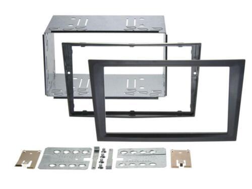 Opel Agila combo Corsa C KFZ diafragma instalación marco doble DIN radio diafragma negro