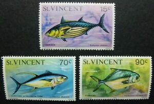 St-Vincent-1976-Meerestiere-Fische-Fishes-Pesci-Poissons-448-450-I-MNH