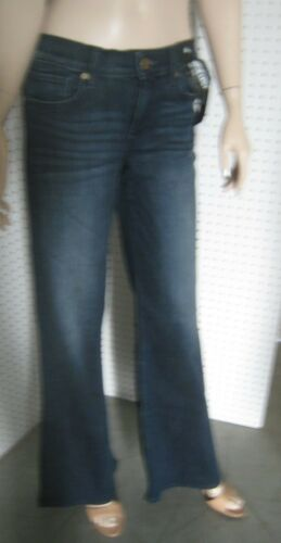 Mid Rise Finished Hem New Ladies Express Jeans Wide Leg Flare 2 Styles