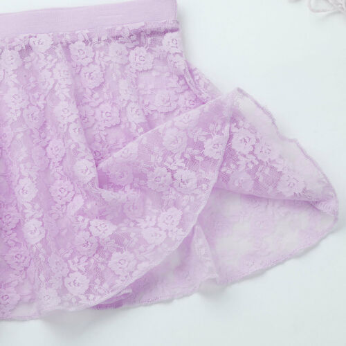 Girls/' Ballet Lace Dance Dress Gymnastics Turtleneck Leotard+Tutu Skirt Costume