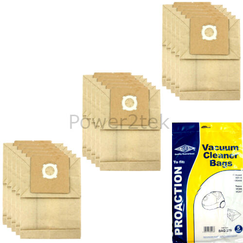 15 x VC Dust Bags for Proaction Compact DD818 4053400 Vacuum Cleaner