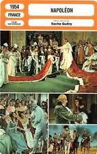FICHE CINEMA : NAPOLEON - Aumont,Boitel,Brasseur,Guitry 1954