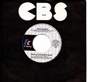 PETER-BROWN-disco-45-g-MADE-in-ITALY-West-of-the-north-star-Can-039-t-be-love-1980