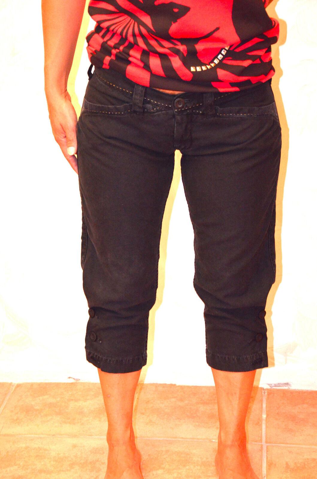 Women three quarter pants LE TEMPS DES CERISES size 27W (36 38) ALL NEW
