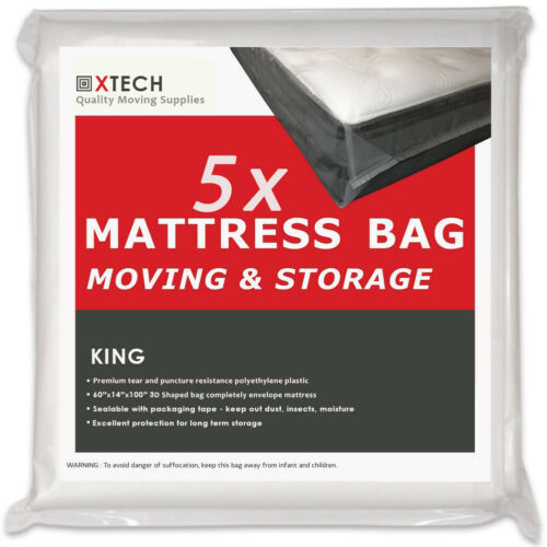5 King Mattress bags for moving High Quality Disposal Sealable Plastic matress