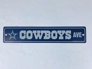 Dallas-Cowboys-NFL-Football-Street-Fan-Sign-Ave-4x24-Blue-amp-Silver-New