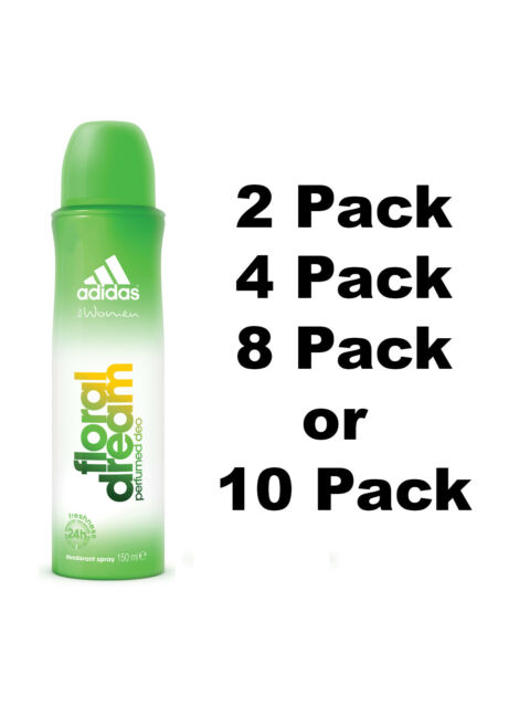 6 X adidas Floral Dream 24h Freshness Deodorant Women Body Spray 90ml