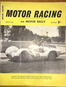 Motor Racing And motor Rally Magazine March 1960 - Tonbridge, Kent, United Kingdom - Motor Racing And motor Rally Magazine March 1960 - Tonbridge, Kent, United Kingdom