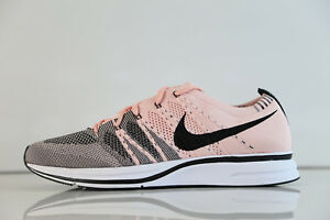 5ec15128b6e82 Nike Flyknit Trainer Sunset Tint Pink Black White AH8396-600 8-13 ...