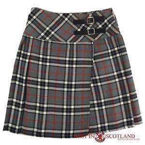 28cba989700fb Grey and White Tartan Skirt - Mid Length (18