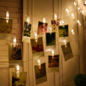 2m-5m-LED-Photo-Clip-Clothespin-Fairy-String-Lights-Warm-White-Xmas-Party-Decor