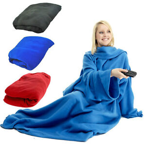 kuscheldecke mit rmeln snuggie rmeldecke lounge decke tagesdecke ebay. Black Bedroom Furniture Sets. Home Design Ideas