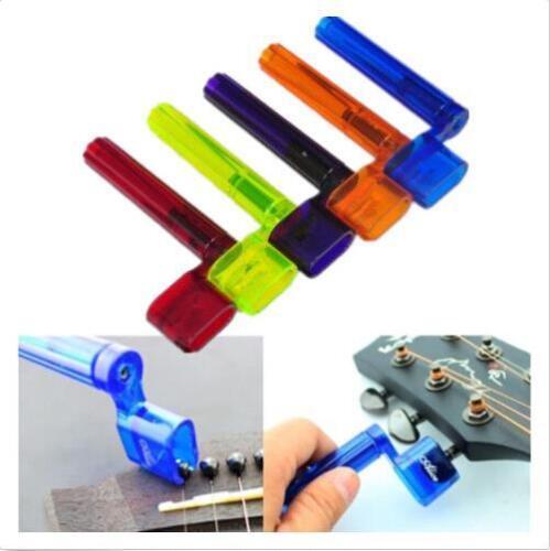 Plastic Acoustic Electric Guitar String Winder Peg Bridge Pin Tool Multicolor WH