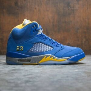 buy online a3e6a 11f15 Details about Nike Air Jordan 5 V Retro Laney JSP Blue Yellow Size 8.5.  CD2720-400