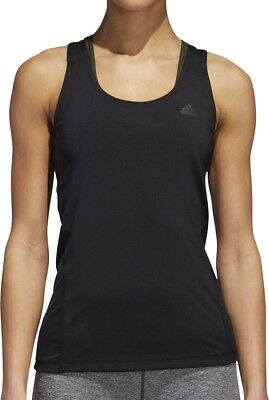 Obligatorisch Adidas Alphaskin Sport Womens Training Vest Tank Top - Black