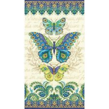 "Peacock Butterflies Counted Cross Stitch Kit-8""X15"" 14 Count"