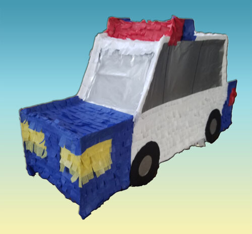 POLICE CAR PARTY PINATA CARRO DE POLICIA PULL STRING OR HIT WITH OPTION OF STICK