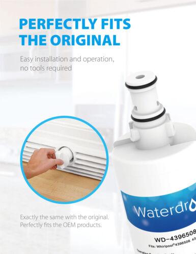 6 Filtri acqua Frigorifero Congelatore per WHIRLPOOL 4396508 Maytag Hotpoint /& SMEG