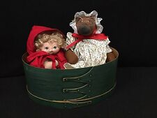 Jan Shackelford - Big Bad Wolf & Little Red Riding Hood in Wooden Box! Cute!