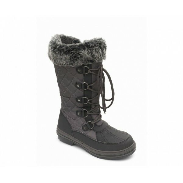 Womens BLIZZARD Ladies Womens Waterproof Wide (E Fit) Winter Mid Calf Boots Grey