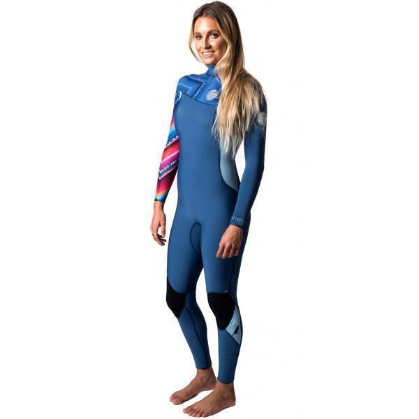 Rip Curl Womens G BOMB 3 2mm ZIP FREE Steamer Wetsuit Rrp  - WSM6KG bluee