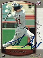 Chad Allen Minnesota Twins 2000 Bowman Signed Card