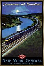 New York Central Railroad EMPIRE STATE EXPRESS Retro Train Poster Art Print 213