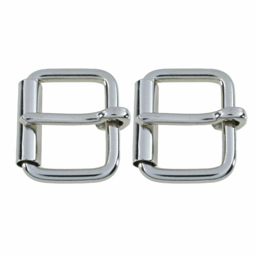 Silver Roller Buckle Single Prong 5mm Thick Heavy Duty Brass for Belt Shoes Bags