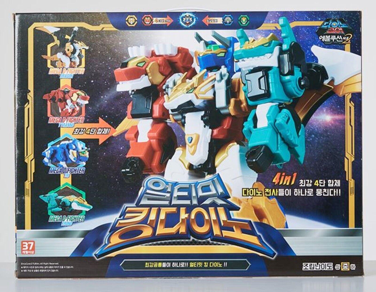 Dino Core Evolution 2 ULTIMATE KING DINO Mega D-Fighter Transformer Robot 4 IN 1