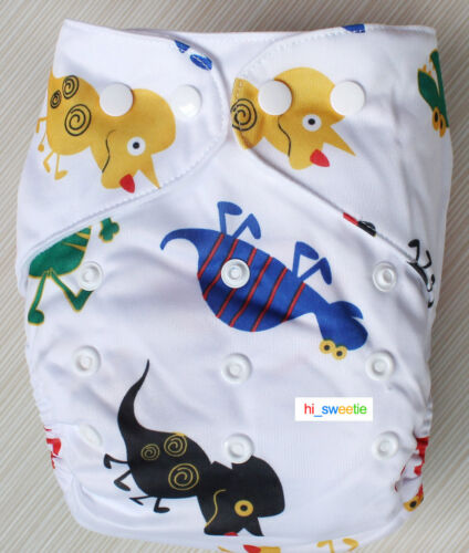 Lot Baby Infant One Size Reusable Cloth Diapers TPU Pocket Nappy Covers Inserts