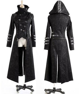 Fashion Unisex Punk Streampunk Visual Kei Gothic Long&short Jacket Coat Hoodie