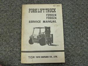 tcm models fd50z4 fd60z4 forklift lift truck shop service repair rh ebay com TCM Forklift Fg25n5c Parts Catalog TCM Fork Lift Parts Catalog