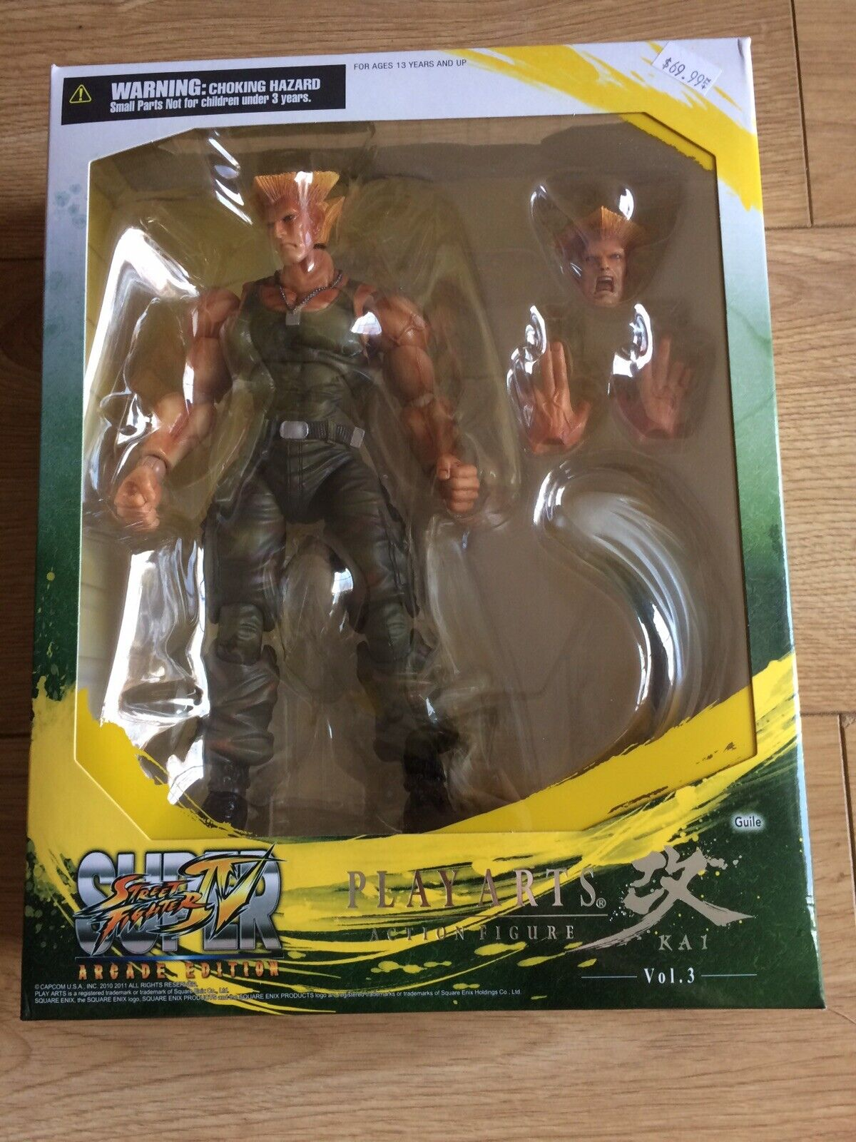 Play Arts Kai Street Fighter IV Arcade Edition Figure Guile MIB Brand New