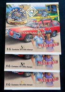 Australian-Stamps-2013-Road-Trip-Aust-Booklet-Melbourne-Sydney-Overprint