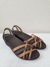 c384b96da877f Crocs Womens Huarache Mini Wedge Sandal Shoes Bronze   Espresso 10 ...