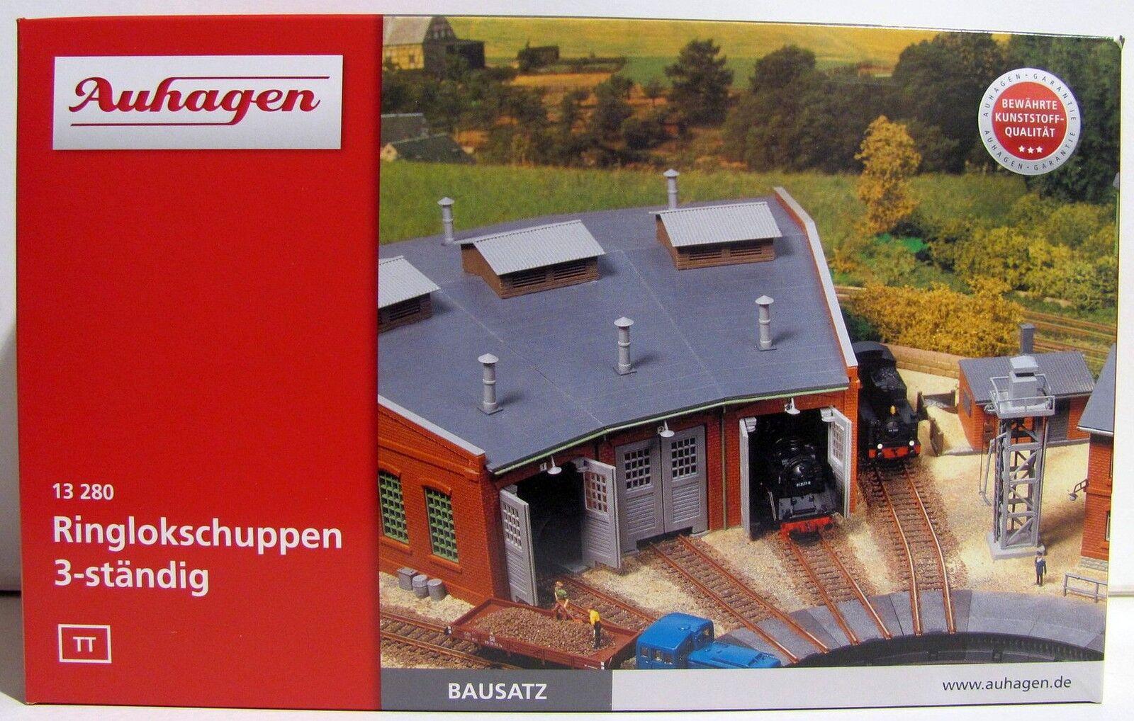 AUHAGEN 13280 3-Anello permanente Lokschuppen per traccia TT merce nuova con imballo originale