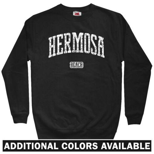 Crewneck S-3X Hermosa Beach California Men/'s Sweatshirt Gift Surf Sun Fun CA