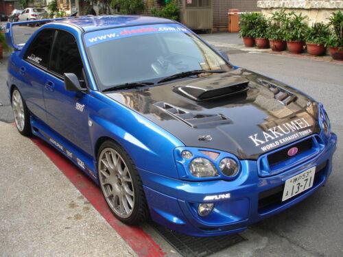 "KAKUMEI Fiber Glass 4/""H Hood Bonnet Scoop FOR 2004 2005 04 05 Impreza WRX STi"