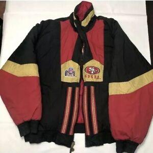 Détails sur Vintage San Francisco 49ers Pro Couche réversible NFL Veste manteau vintage afficher le titre d'origine