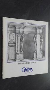 Revista Theatre National Opera París Abril 1985 Buen Estado
