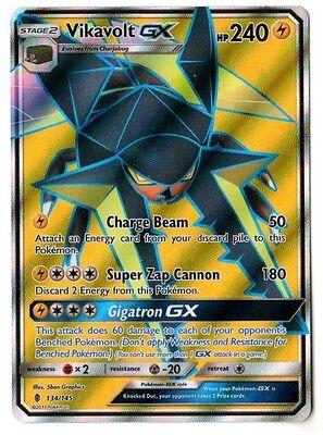 Full Art Ultra Rare NM Sun /& Moon Guardians Rising 134//145 Vikavolt GX