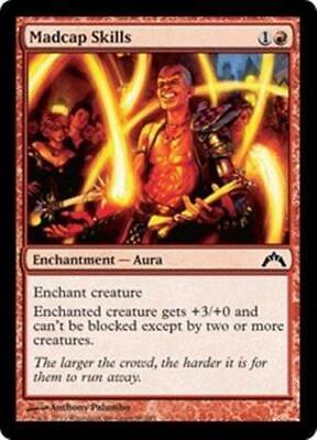 4x MADCAP SKILLS Gatecrash MTG Red Enchantment—Aura Com