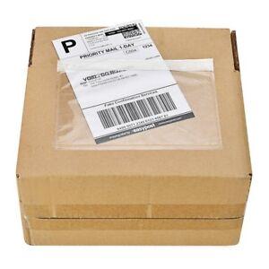 80-Piezas-Bolsa-de-etiqueta-de-envio-7-034-X-9-5-034-lista-de-embalaje-sobre-de-deslizamiento-de