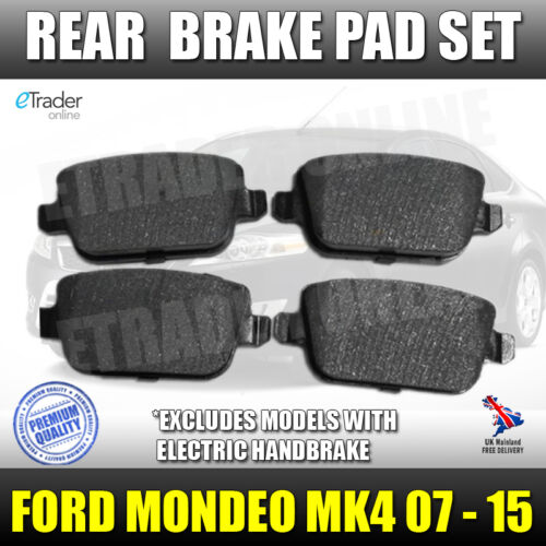 Ford Mondeo MK4 Rear Brake Pads 2007-2015 Pad Set Mark 4 O.E.M Quality New