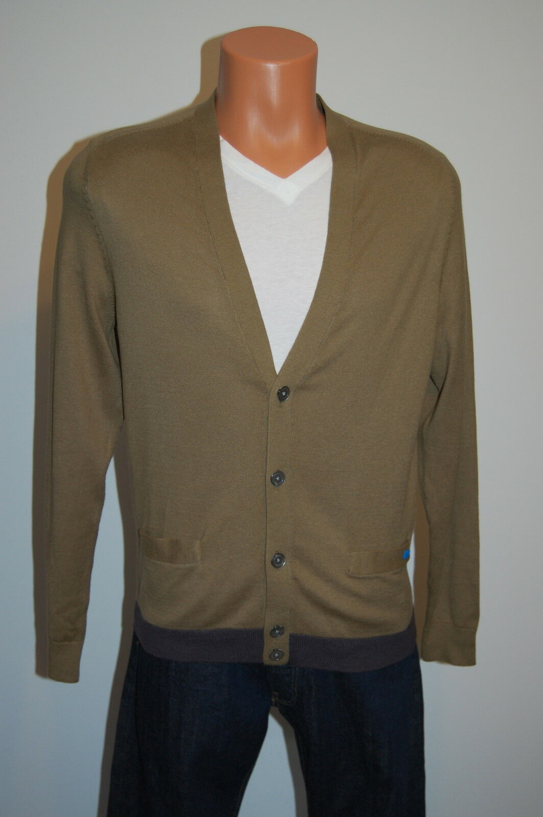 3446a3ea53083b New 228 Marc by Marc Jacobs Olive Grün Cardigan Sweater sz Large L  Lightweight