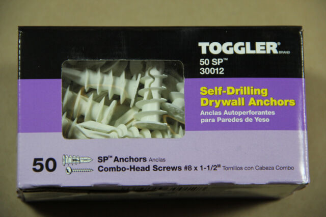 Toggler Brand SnapSkru  SP Self Drilling Drywall Anchor w//Screws 50//Box 30012