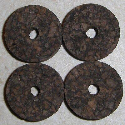 """12 BURL CORK RINGS 1 1//4/""""X1//4/"""" BURNT  BORE 1//4/"""""""